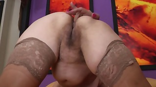 Mom ass MILF solo in the bedroom