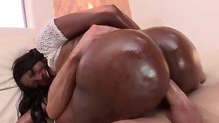 Interracial sex action with a sweet mom