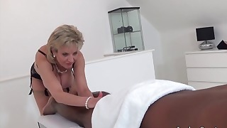 Hot mom blowjob action with a BBC