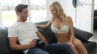 Blonde mom son sex with a busty goddess