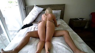 Stunning blonde mom wants her step son dick