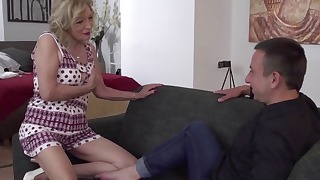 Sensual mother porn action with a young boy