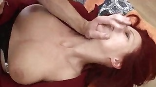 Playful Russian gets her mouth fucked