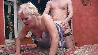 Chubby Russian angel VS young man dick