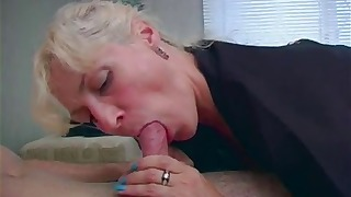 Good-looking Russian is sucking a tasty dick