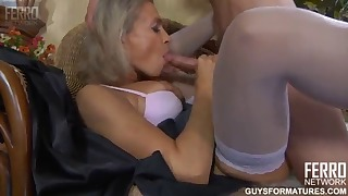 Gorgeous Russian blonde sucks with love